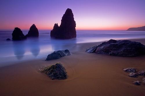 beach sunset. Rodeo Beach Sunset - Marin