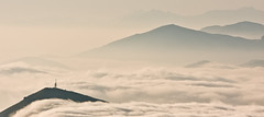 Belvedere (lonedfx) Tags: morning sea tower silhouette fog radio utata layers coulds pyrenees gentle montains myst utata:project=tw120 mointaintops