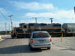 Switching at the Central Avenue / north entrance to Clearing Yard. Bedford Park Illinois.