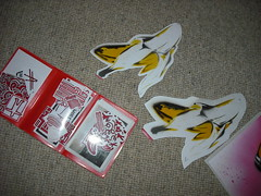 Stickers going out to Matts cat (bananafly) Tags: street art cat graffiti stencil stickers banana 2cv matts slaps