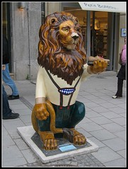 Munich Lion (Cold Mountain) Tags: street art munich lion