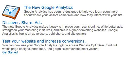 Google Analytics New?