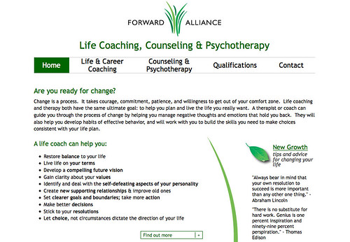 Forward Alliance website, by Aaron Rester