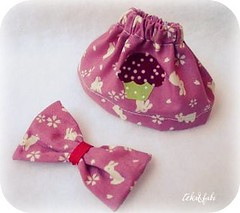 Set coelhinhos (Teka e Fabi) Tags: pink set doll handmade lace rosa skirt cupcake blythe rabbits boneca coelhos saia lao tekaefabi