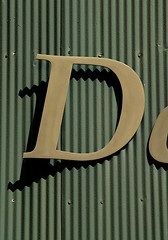 Capital Italic Letter D on D Street NW (Washington, DC)