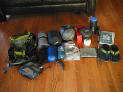 overnight stuff. (koaflashboy) Tags: backpack rei contents overnight ultralightweight