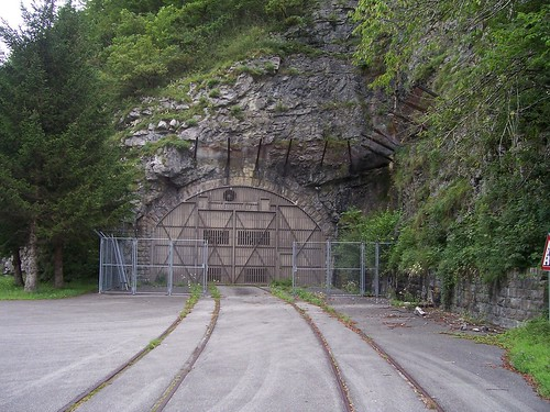 Secret, mysterious underground depot