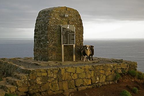 Faroe Islands - memorial to lost fishermen on Mykines