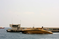 A Golden shape (O'Khalila) (Vikars') Tags: french gold golden boat riviera harbour yacht august monaco huge 2008 luxurious okhalila