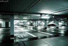 Where did everybody go? (Frank_F.) Tags: blackandwhite bw alone empty bmw lonely tiefgarage 5series lonesome 5er angeleyes bmwwelt 530d aplusphoto nikond40x nikkorafs1855mmf3556gif frankf 5speichenfelgen