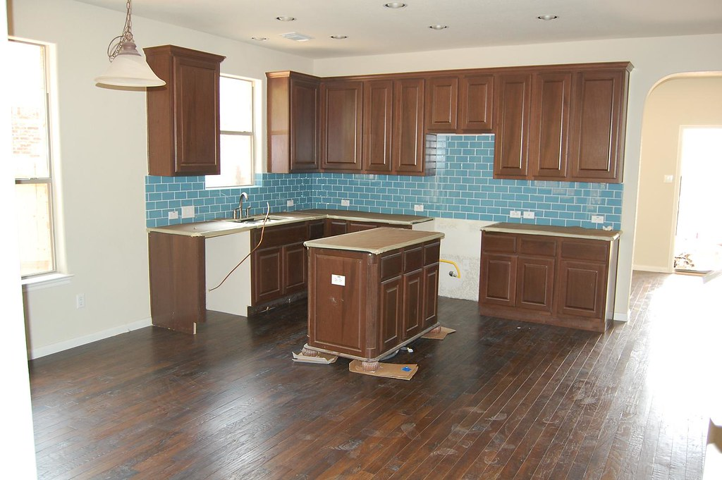 Kitchen with wood