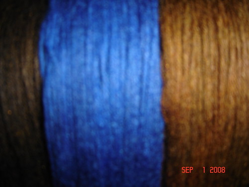 Blue Brown Dyed