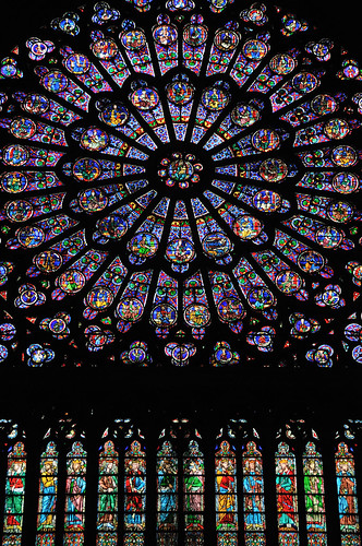 Notre Dame of Paris - the North rose window