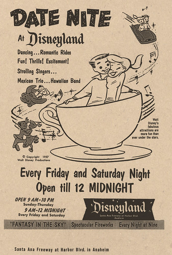 Date Nite at Disneyland 1957