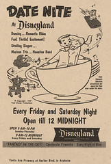 Date Nite at Disneyland 1957 (Miehana) Tags: classic vintage newspaper disneyland advertisement 1957 publicity