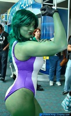 She-Hulk (BelleChere) Tags: green costume comic cosplay bodypaint marvel bellechere ebk shehulk