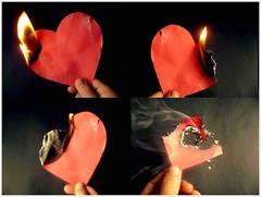 o amor. (Matteus Oberst) Tags: heart preto vermelho dedos coração fogo cinza fumaça queimado