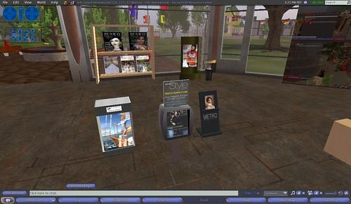 Second Life Virtual Library- Fashion Magazines