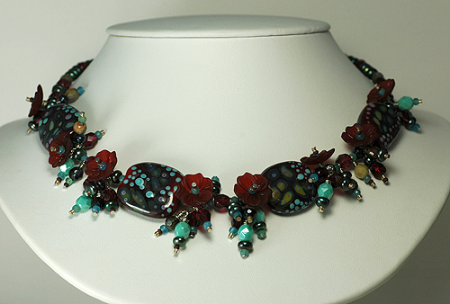 red and turquoise necklace