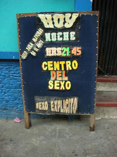 Centro del Sexo!!!! Tralala...