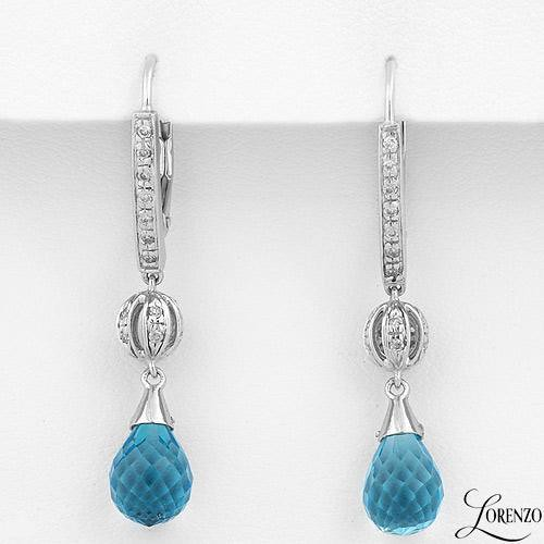 LORENZO Topaz  Diamond Earrings