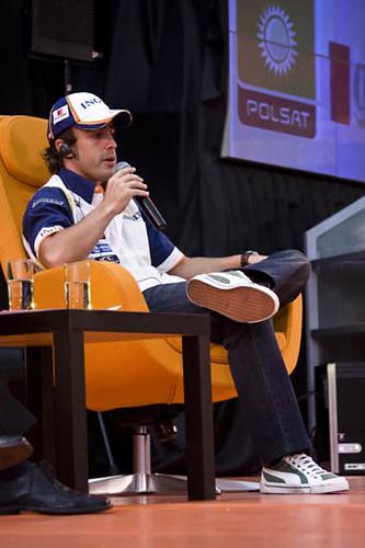 Fernando Alonso w Warszawie 2 by MarcoSantín.