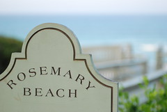 Rosemary Beach Sign by Lance Weatherby