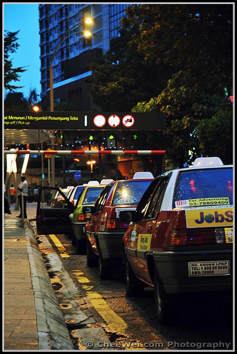 Kuala Lumpur, Malaysia - Taxis