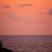 空と海の夕焼け