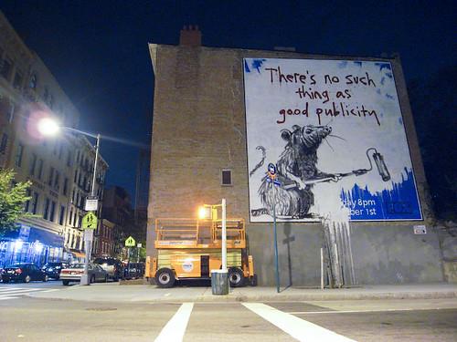 Banksy Work on Houston and MacDougal, NYC
