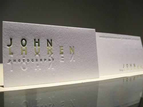John Lauren Photography Letterpress Cards