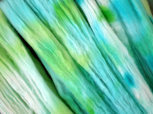 Tropical Liqueur Hand-Dyed Superfine Merino Wool Roving (Two)