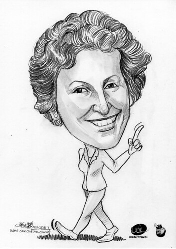 Caricatures Web in Travel 2008 Bernadette Dennis
