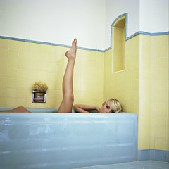 bathtub (miamizeiss) Tags: california 6x6 kodak fashionphotography hasselblad 501cm portravc160 ritrattidiof