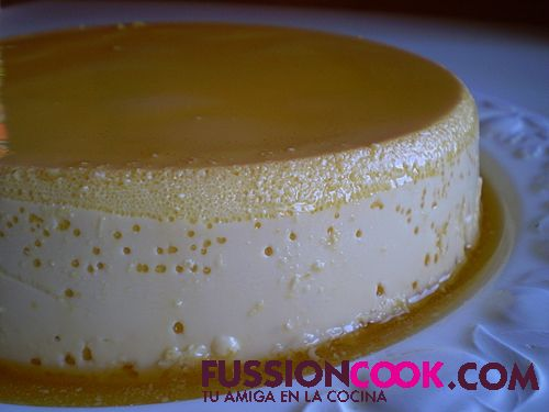 flan de queso al golden syrup