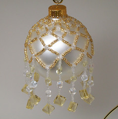 Golden Snowfall Christmas Ornament