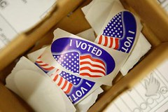 Stickers at Eaton School in Cupertino (San Jose Mercury News)