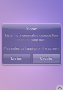 Bloom iPhone app
