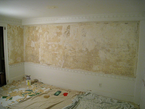 Removed wallpaper from walls