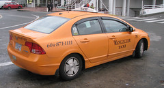 New Civic Taxi in Vancouver (Maurice8888) Tags: vancouver honda cab taxi civic