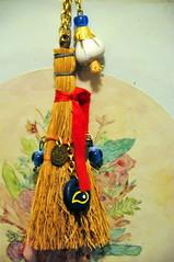 Good Luck Charm (RobW_) Tags: november good athens greece luck garlic 2008 thursday charms broom blueeye koukaki nov2008 13nov2008
