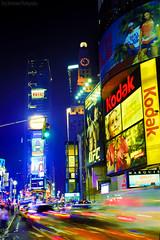 Kodak Colors (Jrg Dickmann Photography) Tags: street city newyorkcity urban newyork colors night geotagged lights colorful colours nocturnal nightshot kodak manhattan timessquare layer canon5d blending lightstream canon1740 geo:lat=40758042 geo:lon=7398549