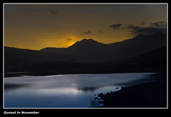 Mountain Sunset in November (Paul Sivyer) Tags: lake wales paul snowdon snowdonia llynmymbyr sivyer