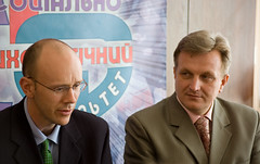 Аллан Олдей и декан А.Музыка - пресс-конференция