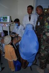 Triage Nurse at the Korean Hospital (cptesco) Tags: afghanistan hijab burqa bagram burka