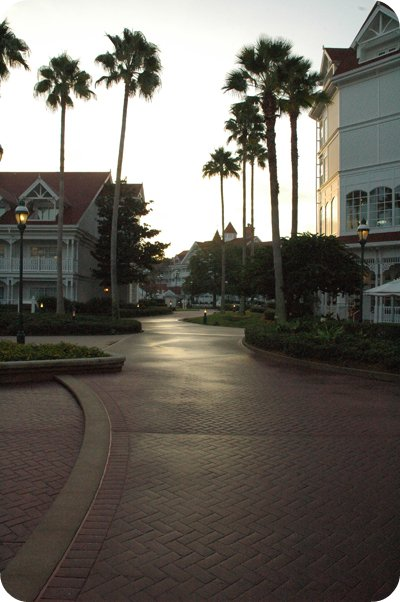 early morning at the Grand Floridian