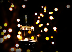 Empire Statekeh (Singing With Light) Tags: nyc building lights state bokeh manhattan empire hbw