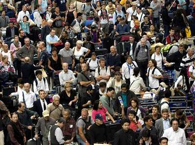people stranded at bangkok airport