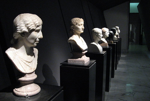 Row of busts