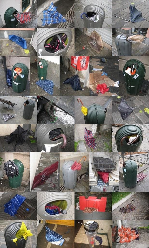 Dead umbrellas